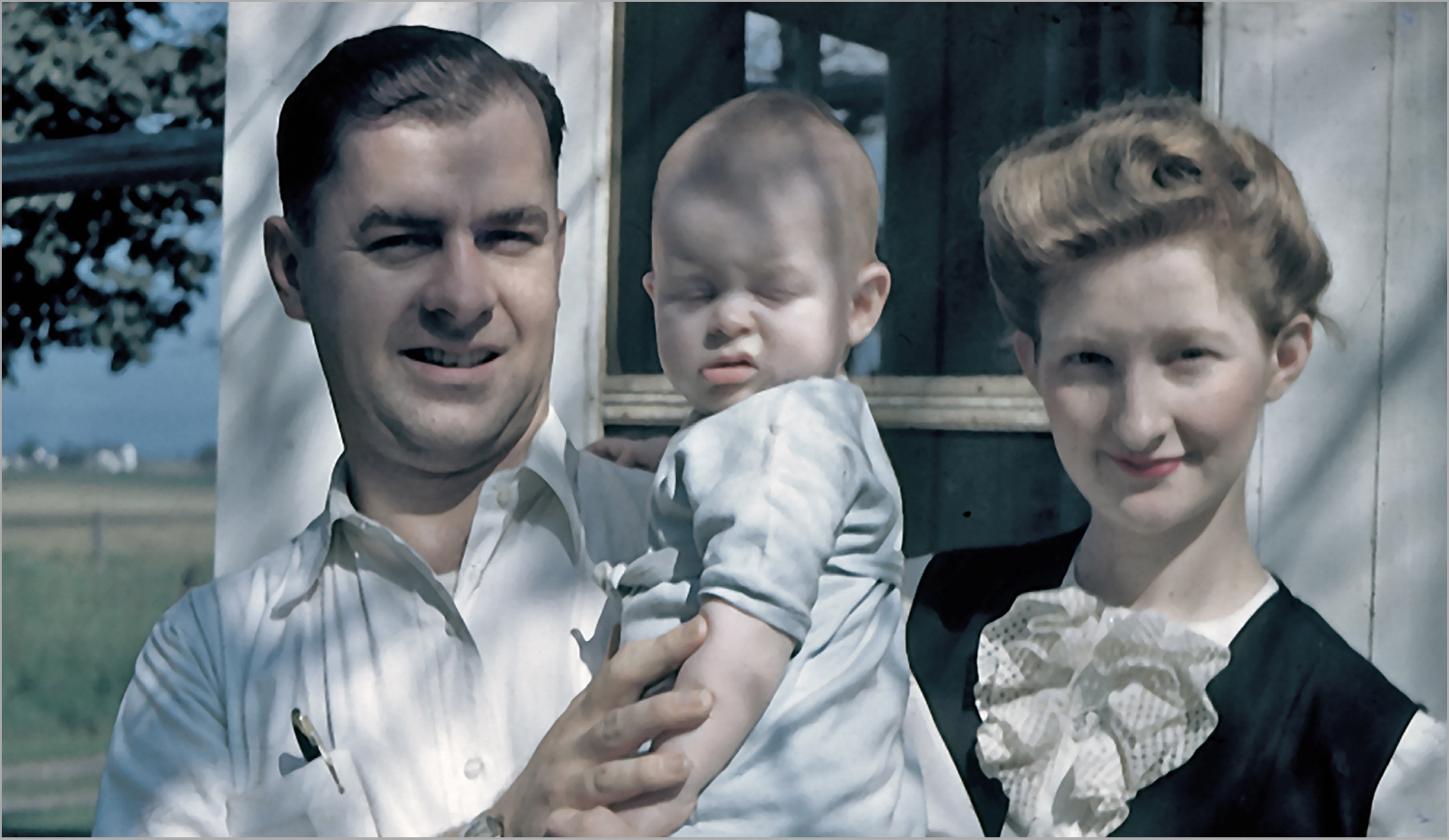 parents with reluctant baby