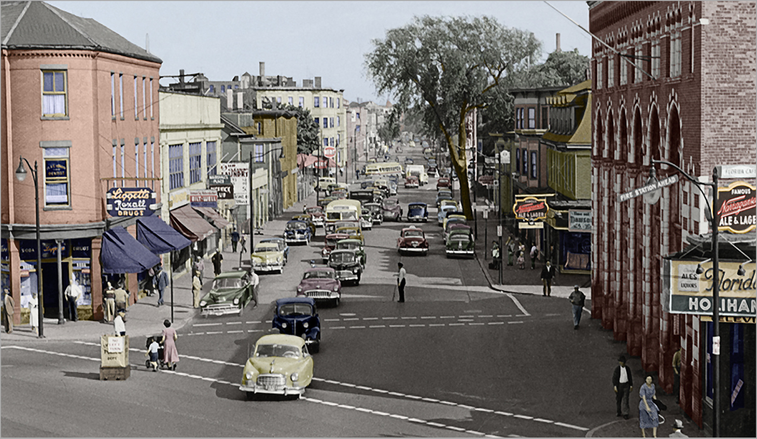 Inman Square in the 1940s