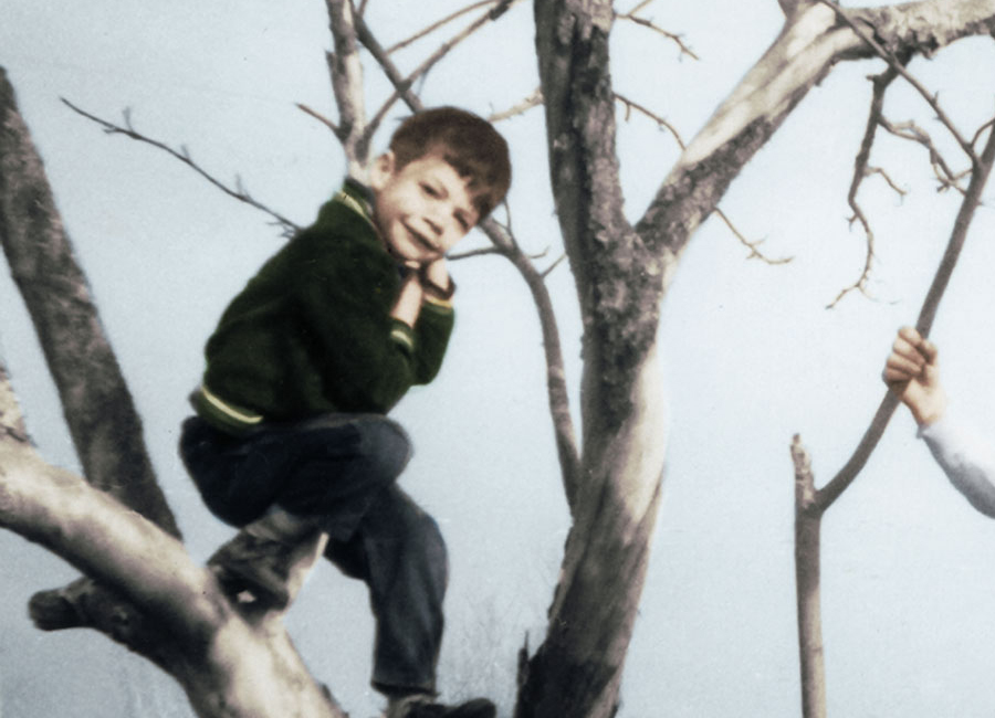 Colorized Photo of Children at Play